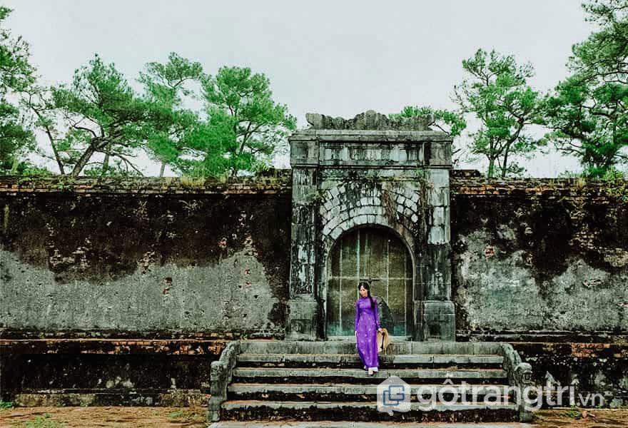 Lăng Thiên Thọ Hữu của bà Thuận Thiên Cao hoàng Hậu, mẹ vua Minh Mạng - Ảnh: Nguyễn Thị Mai Trang