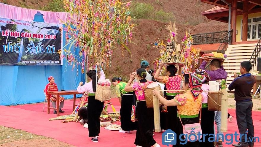 Lễ cầu mưa của người Thái là một trong những lễ hội lớn nhất trong năm của người Thái (Ảnh: Internet)