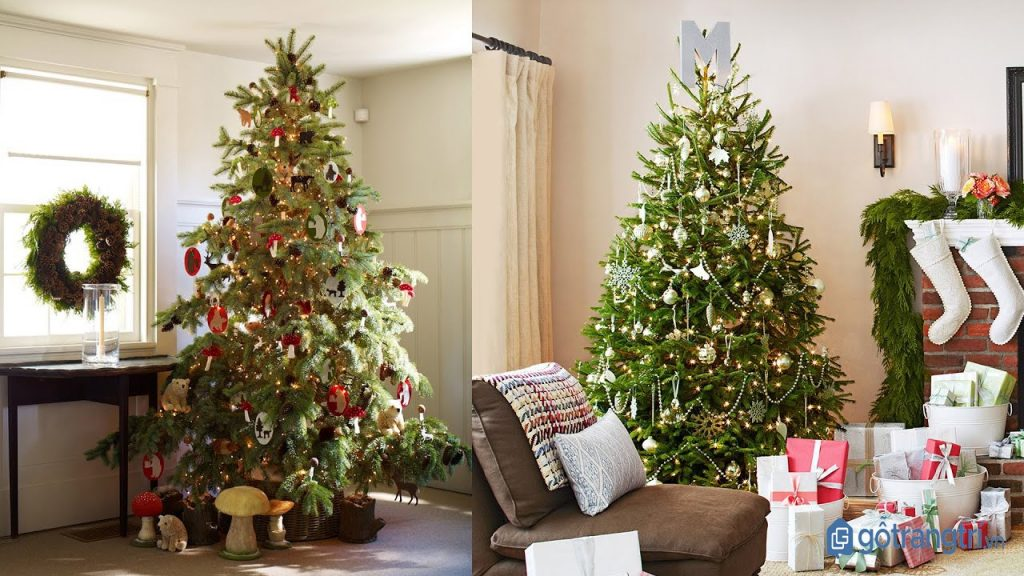 Cách trang trí Noel đơn giản với cây thông truyền thống. (ảnh: internet)