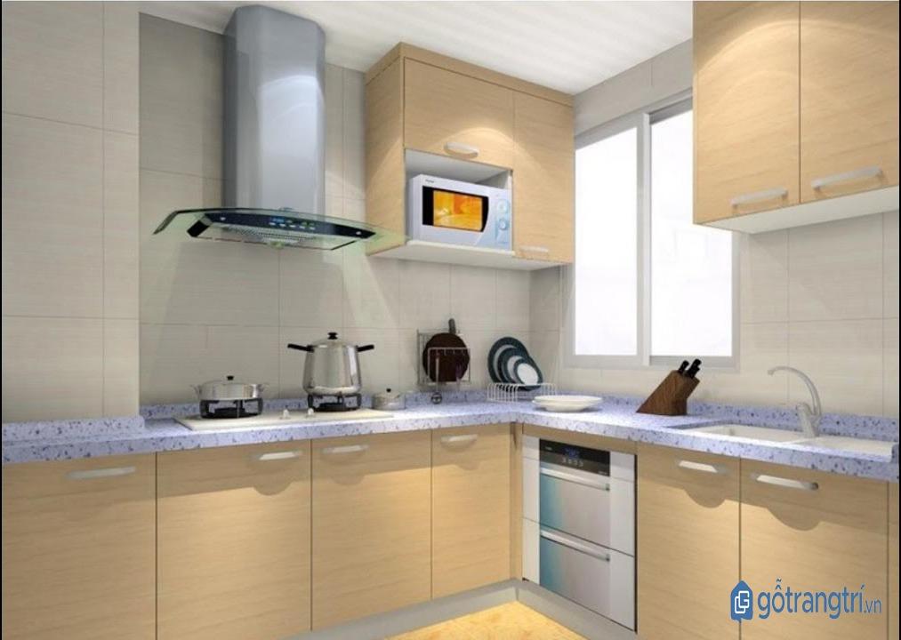 Thiết kế căn bếp thông minh hình chữ L hợp phong thủy nội thất nhà ở. (ảnh: internet)