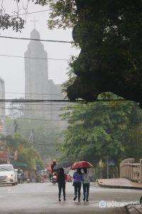 Mặt bằng xây dựng nhà thờ Phú Cam mang dạng thánh giá, đầu hướng về phía Nam đuôi hướng Bắc - Ảnh internet