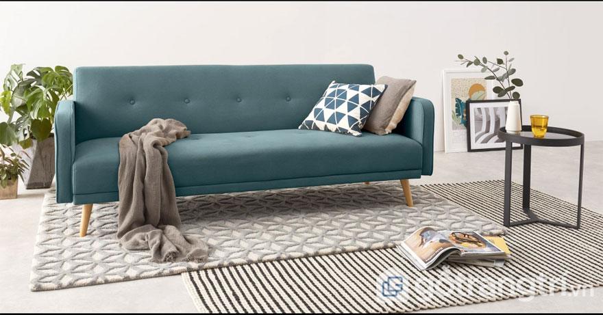 Nội thất Bắc Âu: Mẫu ghế sofa màu xanh bạc hà (Ảnh: Internet)