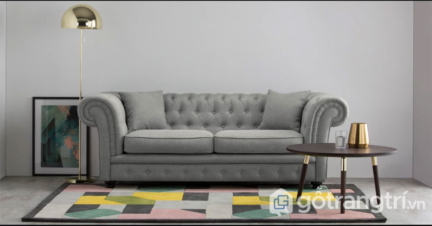Nội thất Bắc Âu: Mẫu ghế sofa tay cuộn kiểu Anh (Ảnh: Internet)