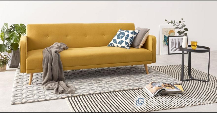 Nội thất Bắc Âu: Mẫu ghế sofa giường (Ảnh: Internet)