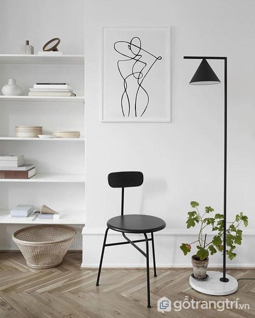 Nội thất Bắc Âu: Tranh treo tường phòng khách (Photo: Pinterest.com)