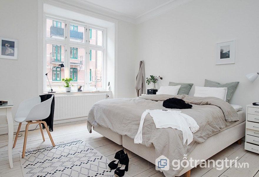 Gam màu đơn sắc nổi tiếng của phong cách nội thất scandinavian (Ảnh: Internet)