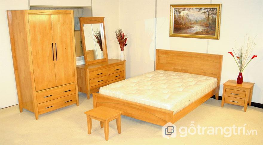 Nội thất phòng ngủ gỗ thông (Ảnh: Internet)