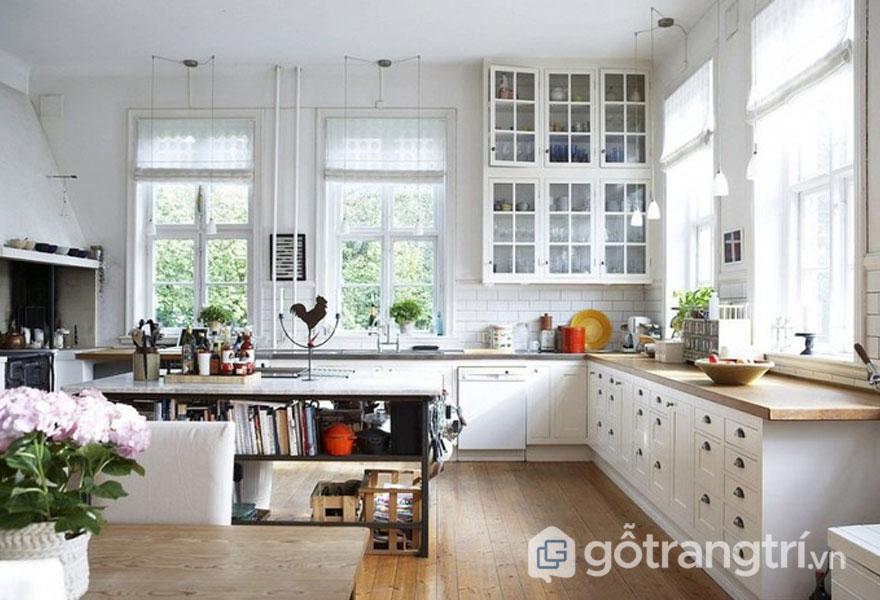 """Căn bếp xinh đẹp và chất """"tây"""" khi được thiết kế theo phong cách scandinavian trong thiết kế nội thất (Ảnh: Internet)"""