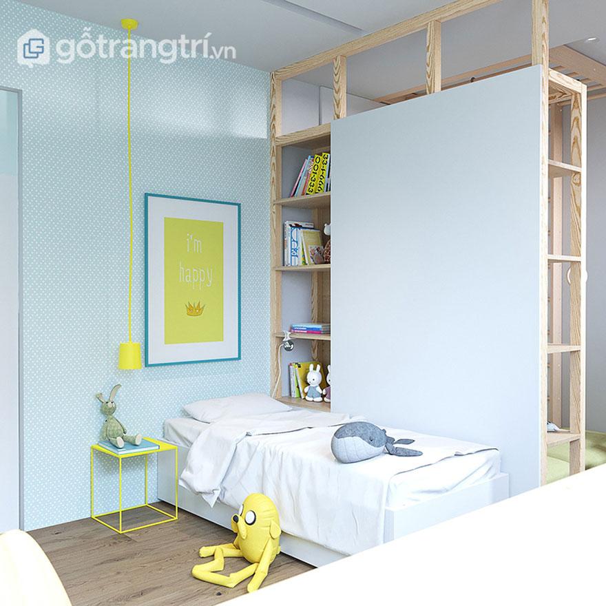 Phòng ngủ trẻ em cũng thiết kế khá sinh động (Ảnh: Internet)