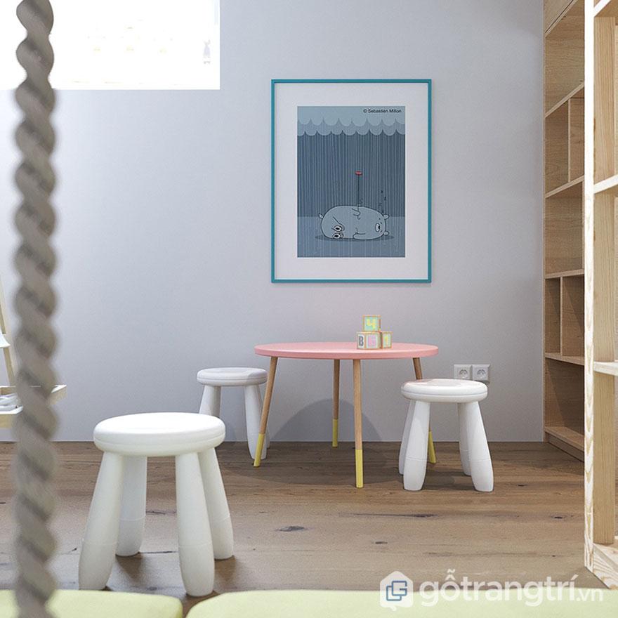 Bộ bàn ghế nhỏ xinh tạo nét đẹp cá tính cho căn hộ khí thiết kế theo phong cách Scandinavia ở Việt Nam (Ảnh: Internet)
