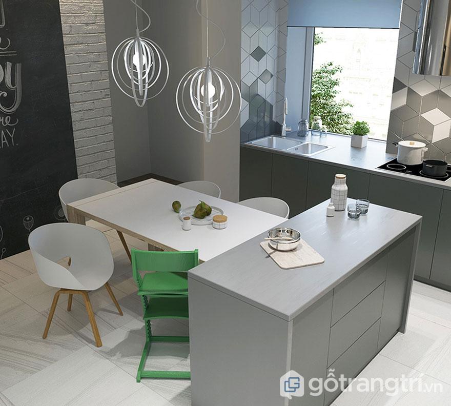 Không gian bếp ăn theo phong cáchScandinavian (Ảnh: Internet)