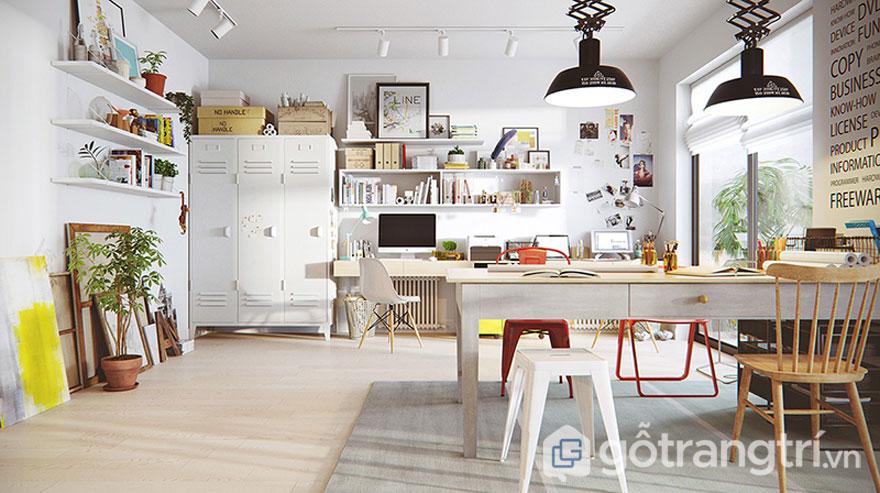 Phong cách scanadinavian ở phòng khách được bố trí khá tự do, thoải mái với đồ nội thất đơn giản (Ảnh: Internet)