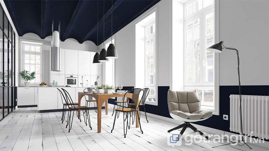 Gam màu lạnh thường hay được sử dụng là concept chính cho phong cách scandinavian style (Ảnh: Internet)