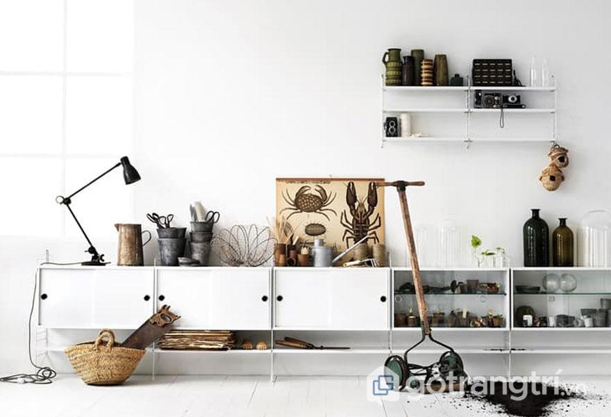 Các vật liệu tự nhiên thường hay sử dụng theo phong cách scandinavian style (Ảnh: Internet)