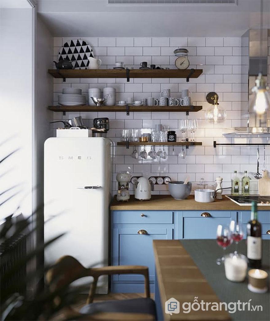 Căn bếp này được tận dùng nguồn ánh sáng tự nhiên trong phong cáchscandinavian style (Ảnh: Internet)