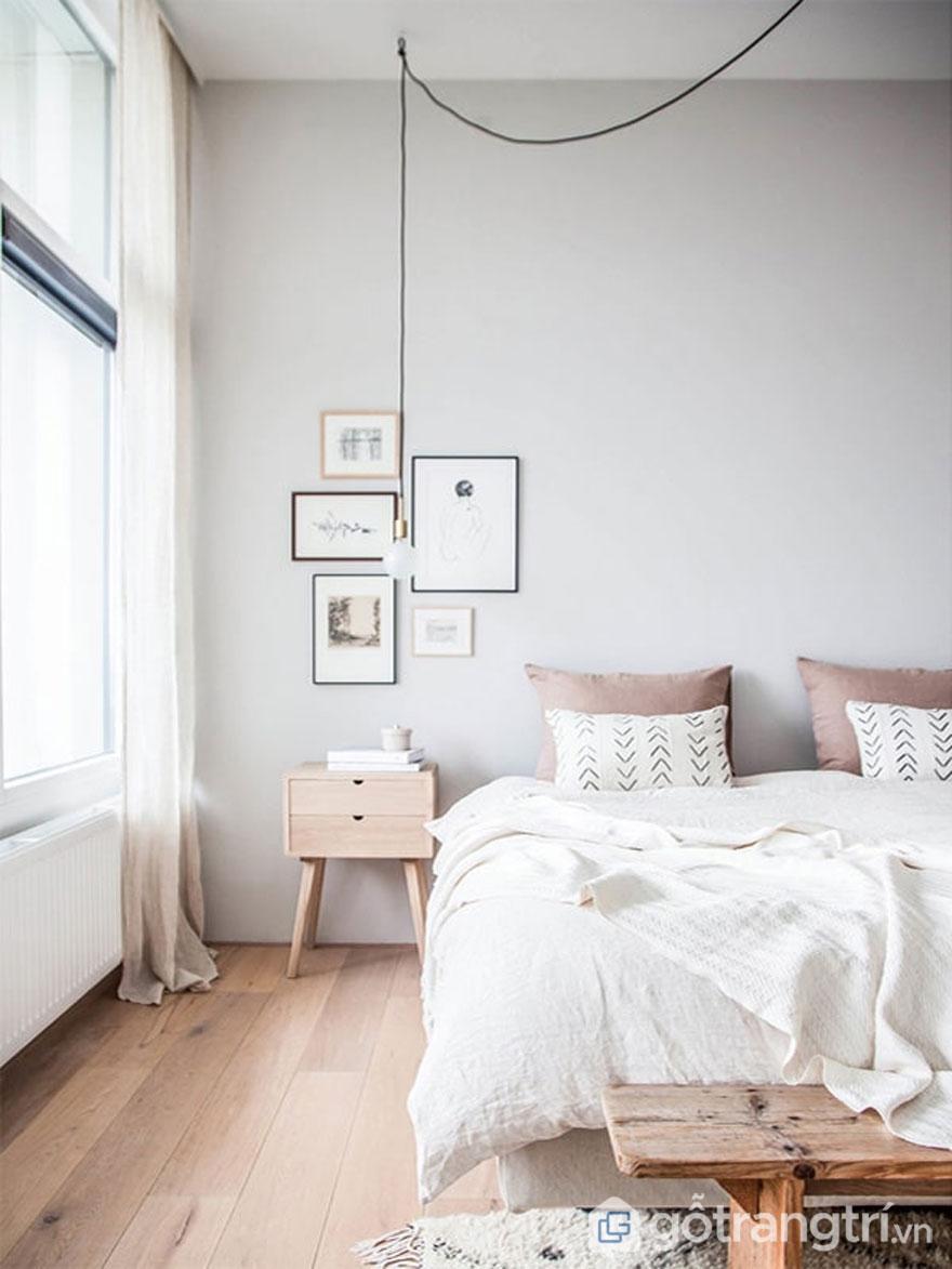 Phong cách scandinavian style thì phòng ngủ khá nhẹ nhàng, nội thất tối giản (Ảnh: Internet)