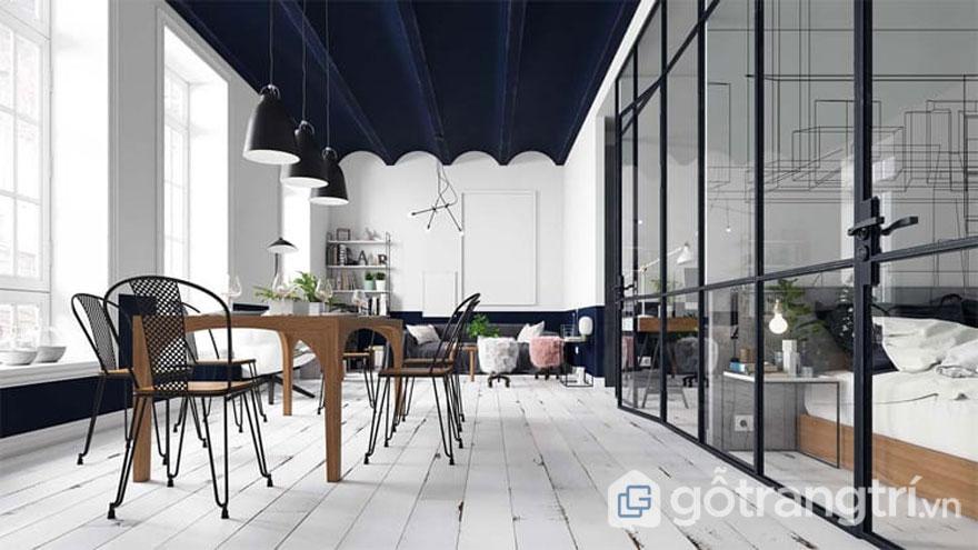 Sàn gỗ tự nhiên với gam màu trắng hay được sử dụng trong phong cách scandinavian style (Ảnh: Internet)