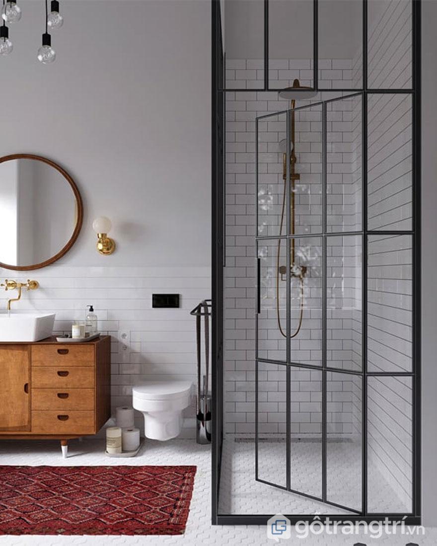 Nhà vệ sinh với lối thiết kế hiện đại (Ảnh: Internet)