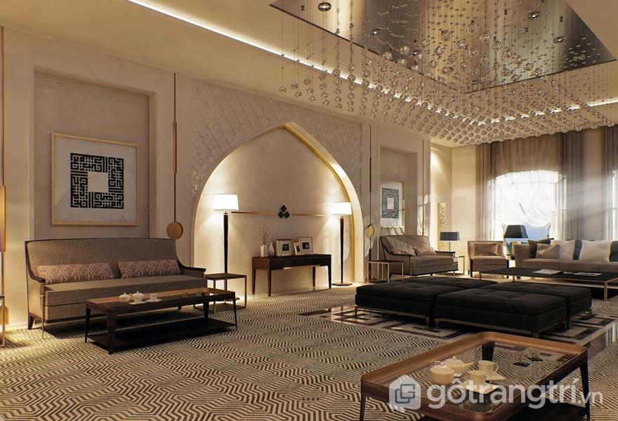 Những tinh hoa văn hóa nhiều vùng miền được thể hiện trong phong cách thiết kế nội thất Moroccan (ảnh internet)