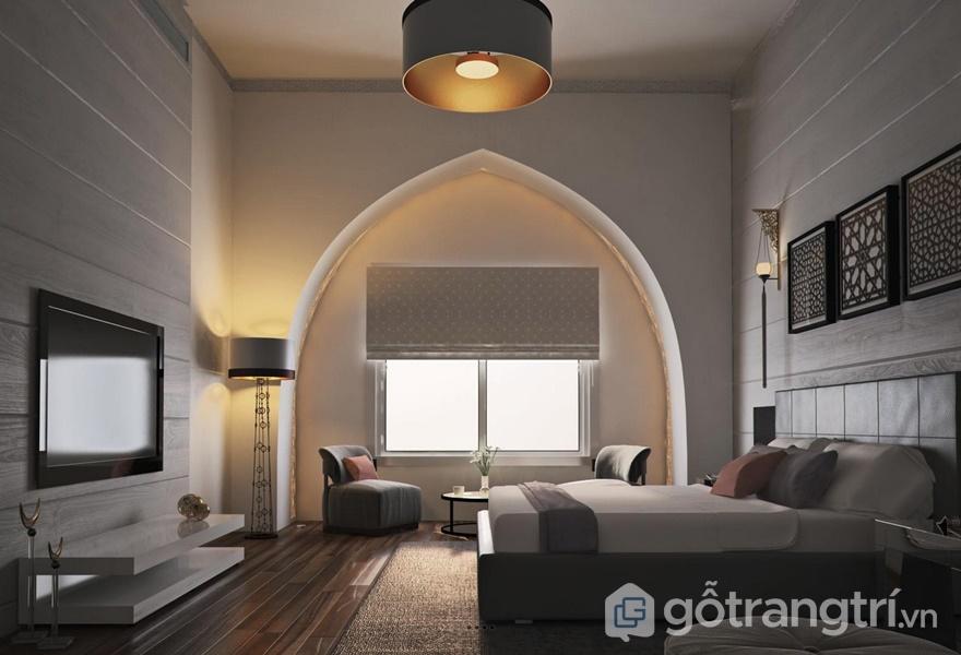 Phòng ngủ đơn giản, gần như không có những chi tiết rườm rà (ảnh internet)