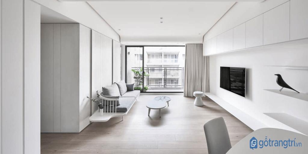 Phong cách tối giản trong thiết kế nội thất hạn chế màu sắc trang trí. (ảnh: internet)