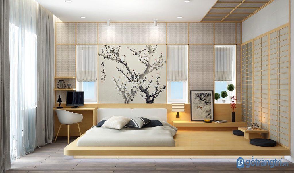 Phòng ngủ phong cách nội thất tối giản có thiết kế tương đồng nội thất Nhật Bản. (ảnh: internet)