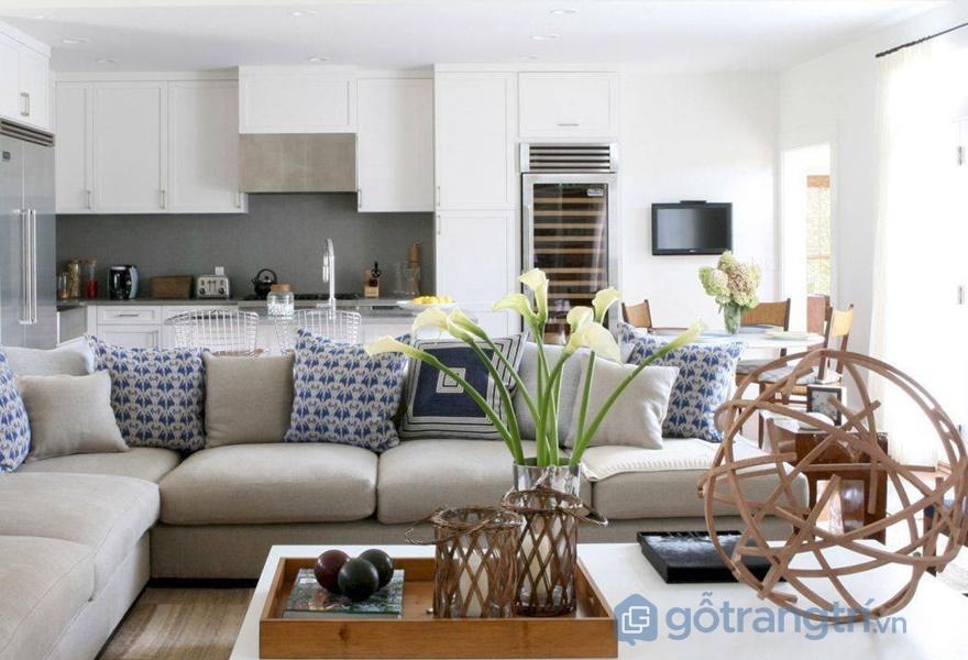 Bộ sofa góc là ý tưởng tuyệt vời cho căn hộ nhỏ (ảnh internet)