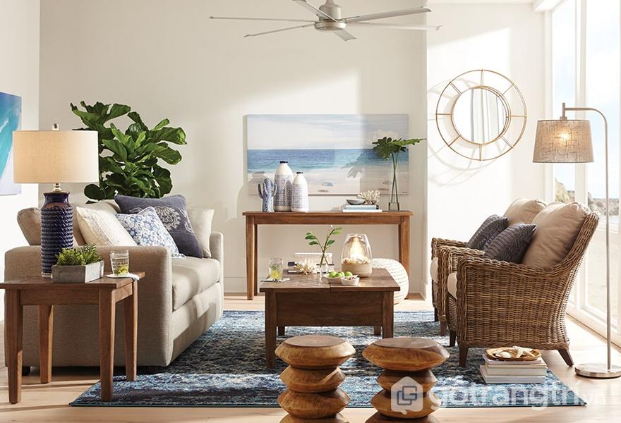 Đồ nội thất được kết cấu chặt chẽ với bố cục căn phòng (ảnh internet)