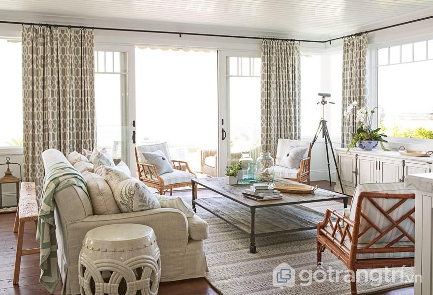 Nét đẹp dịu dàng, quyến rũ trong căn hộ mang phong cách ven biển hiện đại (ảnh internet)