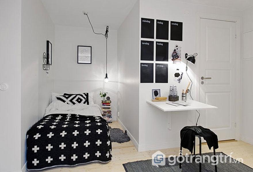 Phòng ngủ có góc khuất (Ảnh: Internet)