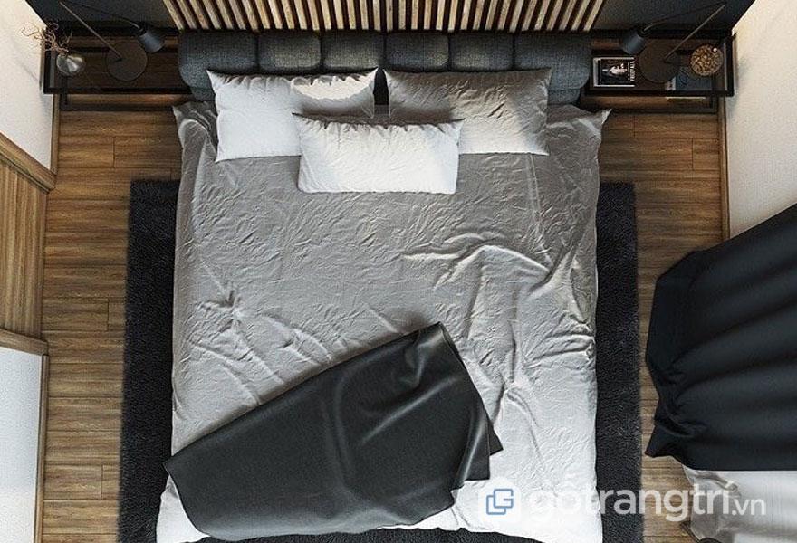 Phòng ngủ sử dụng thảm thay dùng giường (Ảnh: Internet)