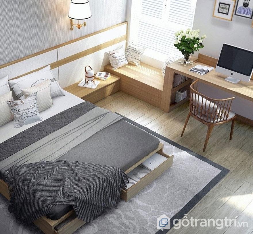 Phòng ngủ dùng giường hộp để tiết kiệm diện tích (Ảnh: Internet)