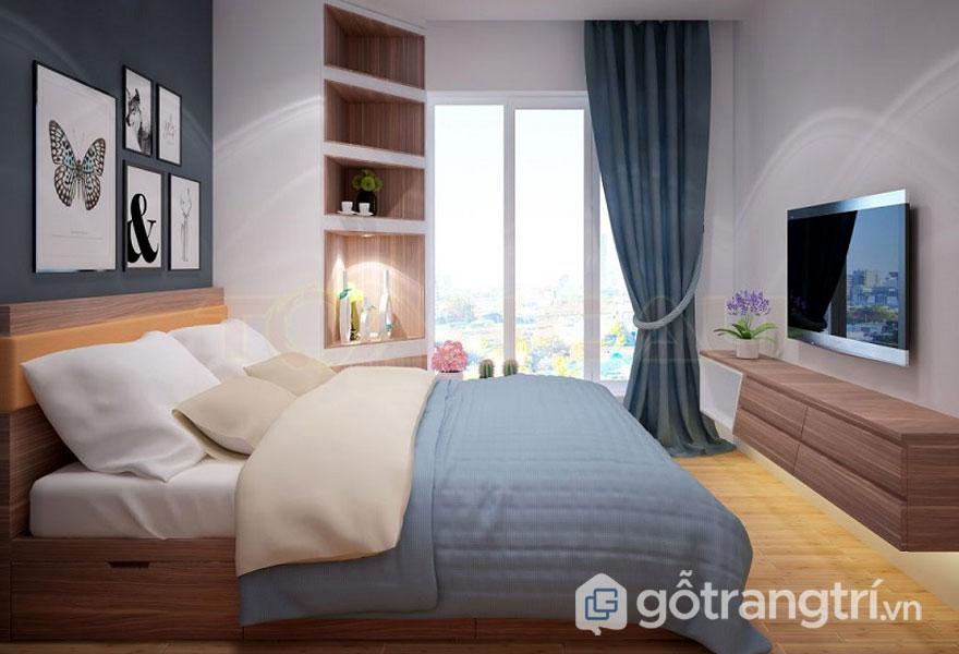 Phòng ngủ nhỏ có cửa sổ (Ảnh: Internet)