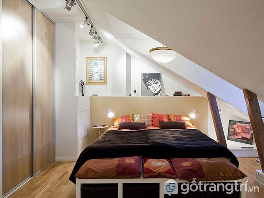 Hoặc thiết kế đồ nội thất đơn giản với chiếc giường hộp (Ảnh: Internet)