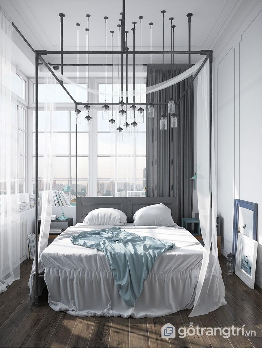 Phòng ngủ scandinavian nhẹ nhàng (Ảnh: Internet)