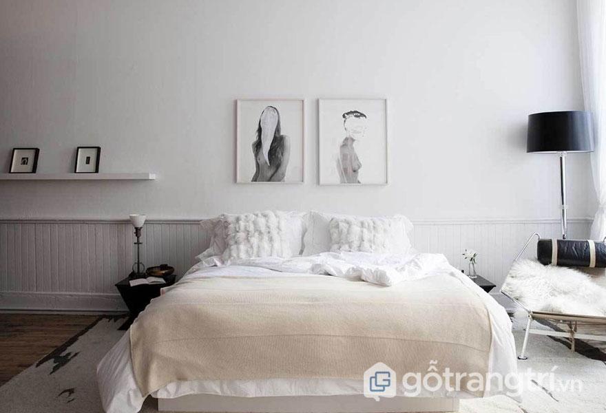 Phòng ngủ scandinavian thanh lịch (Ảnh: Internet)
