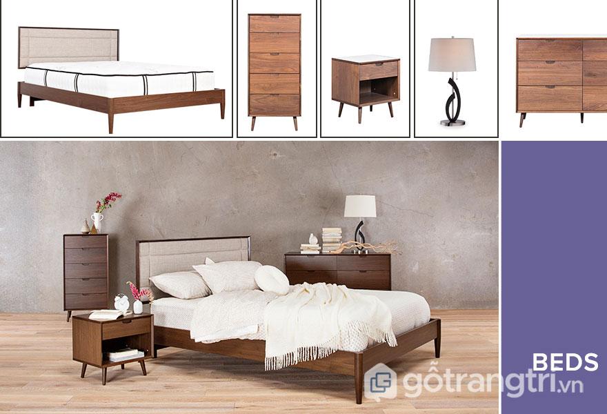Nội thất bên trong phòng ngủ scandinavian gọn nhẹ (Ảnh: Internet)