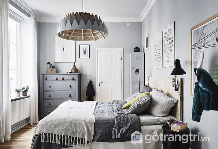 Tham khảo thiết kế mẫu phòng ngủ scandinavian trên mạng (Ảnh: Internet)