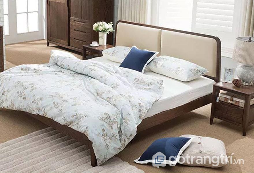 Bộ giường ngủ gia đình hiện đại bằng gỗ tự nhiên GHS-9005 (một sản phẩm của Love House Decor)