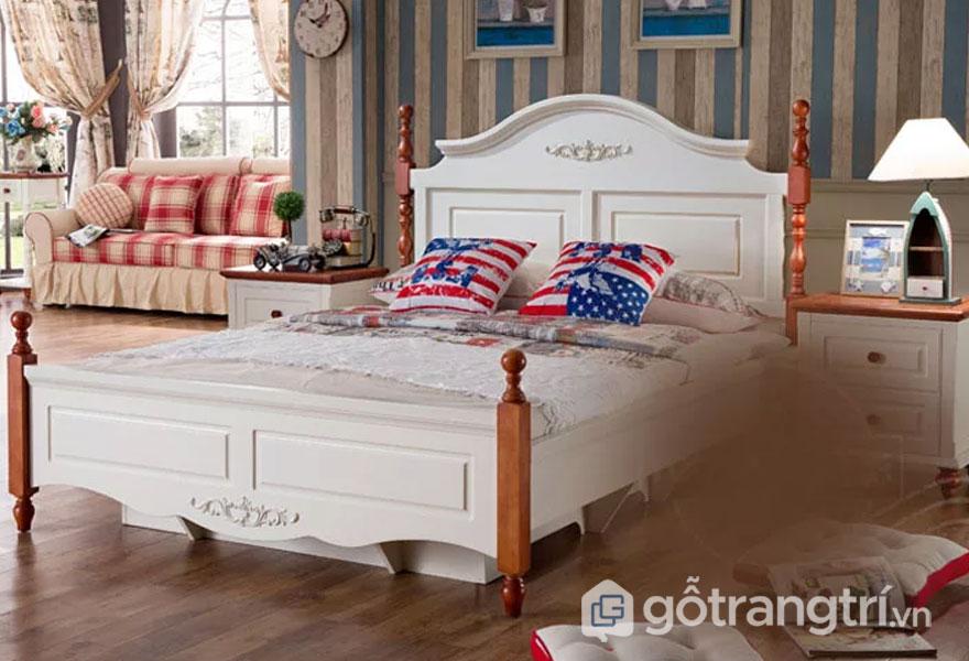 Sét phòng ngủ (Giường ngủ + Tủ đựng đồ + Ghế sofa + Đèn trang trí + Rèm họa tiết)