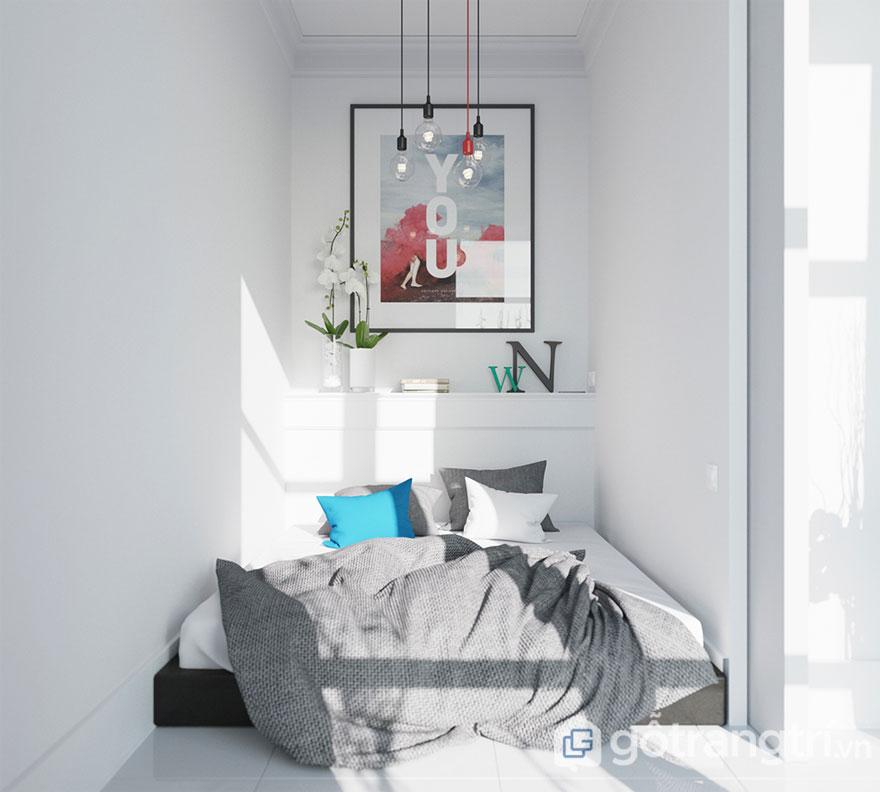 Phòng ngủ scandinavian nhỏ đẹp (Ảnh: Internet)