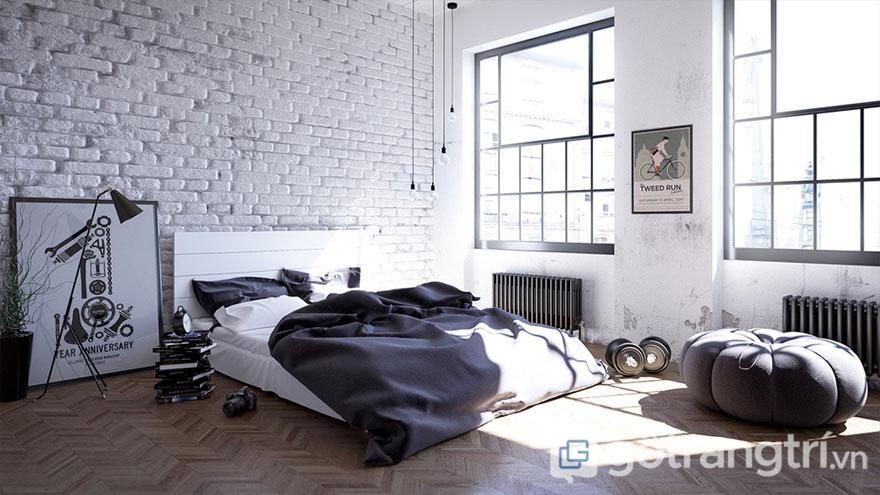 Phòng ngủ scandinavian đơn giản nhưng lại tinh tế (Ảnh: Internet)