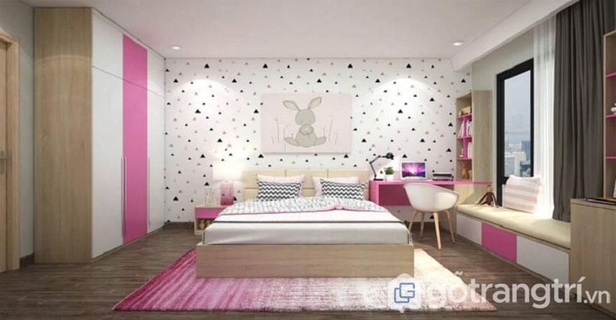 Phòng ngủ cho bé gái từ 13 tuổi trở lên (Ảnh: Internet)