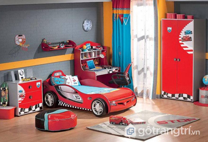 Phòng ngủ bé trai từ 3 - 5 tuổi (Ảnh: Internet)