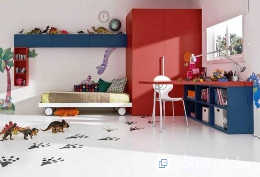 Phòng ngủ bé trai từ 6 - 12 tuổi (Ảnh: Internet)