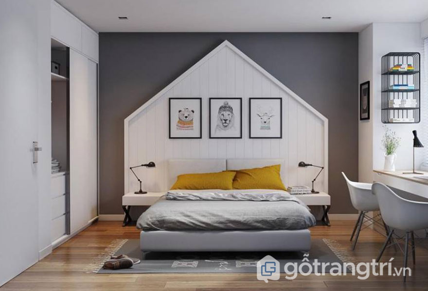 Phòng ngủ cho bé trai từ 13 tuổi trở lên (Ảnh: Internet)
