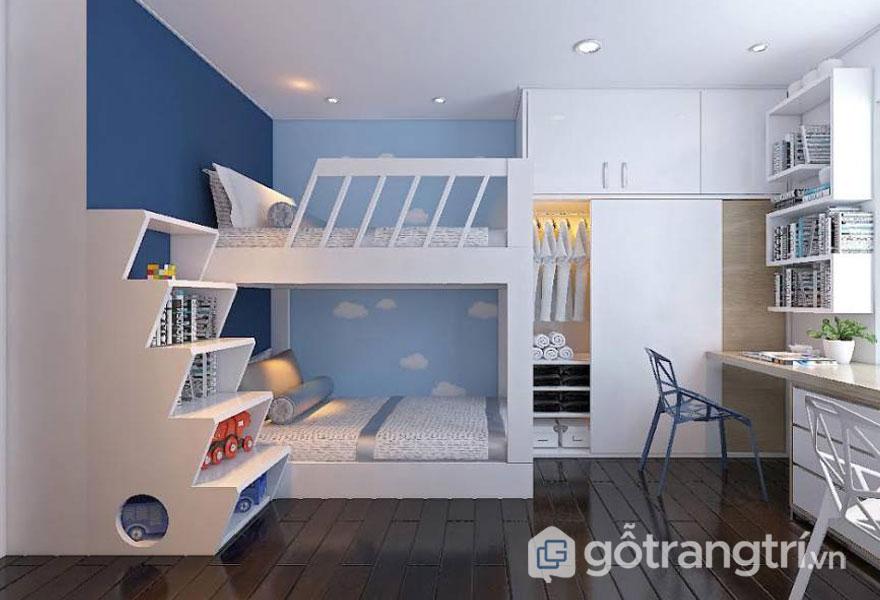Phòng ngủ bé trai trên 13 tuổi đơn giản nhưng cá tính (Ảnh: Internet)