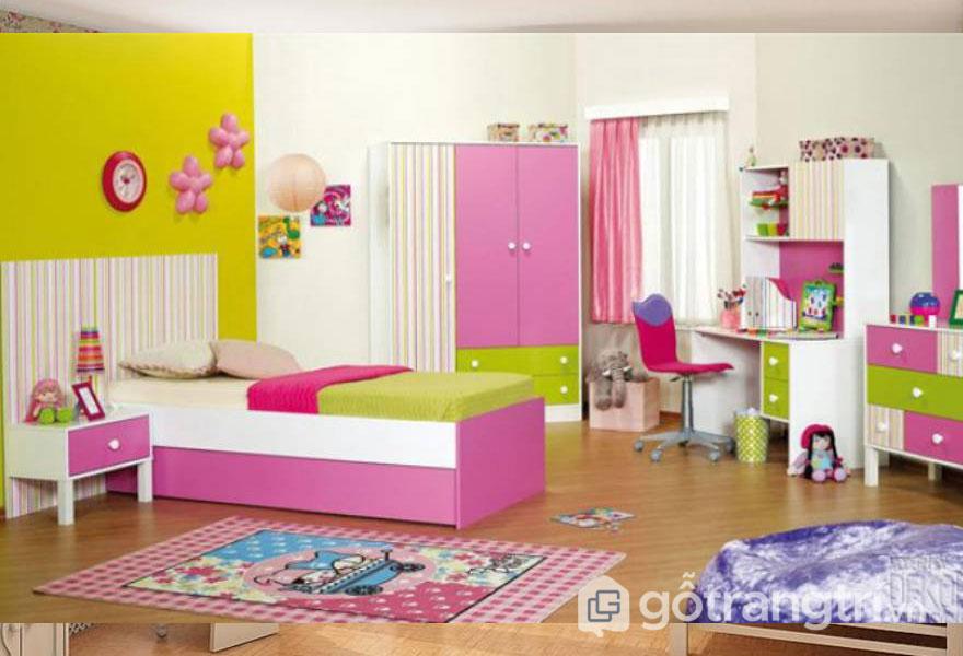 Phòng ngủ dành cho bé gái từ 3 đến 5 tuổi (Ảnh: Internet)