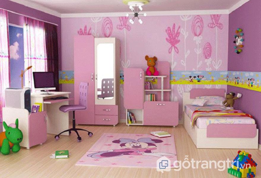 Phòng ngủ cho bé gái từ 6 - 12 tuổi (Ảnh: Internet)