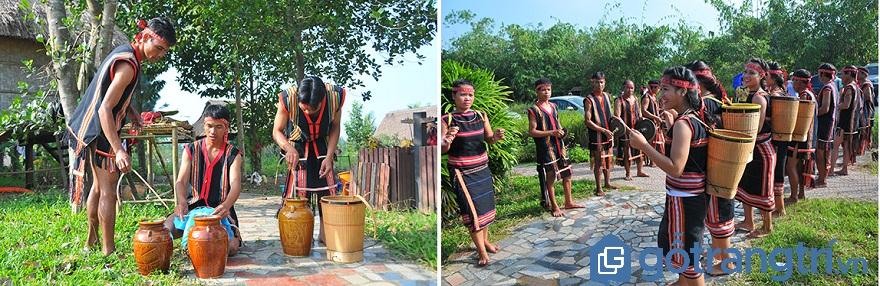 Để chuẩn bị cho buổi Lễ, những cặp vợ chồng người Gia Rai cố gắng nuôi thật nhiều heo, gà và chuẩn bị các vật phẩm cần thiết để làm cỗ. (Ảnh:Internet)